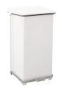 Industrieller Tritt-Mülleimer 90 Liter, Weiß
