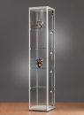 Standvitrine 115400, 400 x 400 x 2000 mm, LED-Beleuchtung