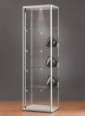 Standvitrine 115600, 600 x 400 x 2000 mm, LED-Beleuchtung