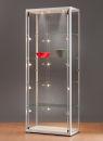 Standvitrine 115800, 800 x 400 x 2000 mm, LED-Beleuchtung