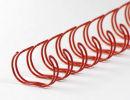 Drahtbinderücken 23 Ringe 25,4mm, 1 Zoll, 2:1...