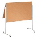 Moderationstafel ECO, 120 x 150 cm, braun/Kork,...