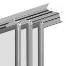 Tafel-Schienensystem PRO, 3 Stück, Aluminium 200 cm