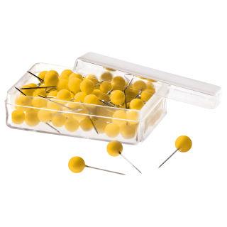 Magnetoplan Pinnadeln, gelb, 100er Pack