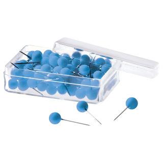 Magnetoplan Pinnadeln, blau, 100er Pack