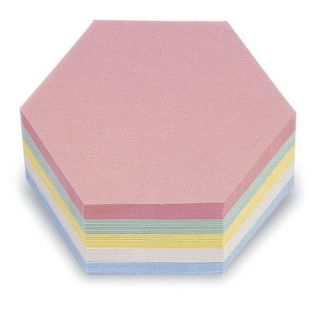 Magnetoplan Kommunikationskarten, Wabe 190 x 165 mm, in 5 Farben sortiert, 250er Pack