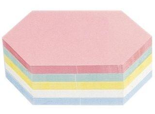 Magnetoplan Kommunikationskarten, Rhombus 200 x 95 mm, in 5 Farben sortiert, 250er Pack