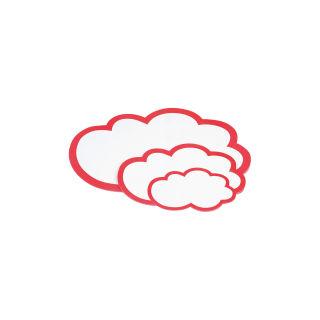 Magnetoplan Moderationswolken 420 x 250 mm, weiß-rot, 20er Pack