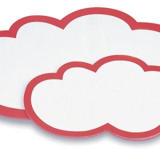 Magnetoplan Moderationswolken 620 x 370 mm, weiß-rot, 20er Pack