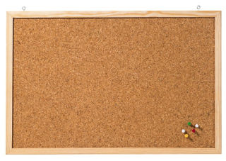 Franken Korktafel Memoboard, 40 x 60 cm, braun