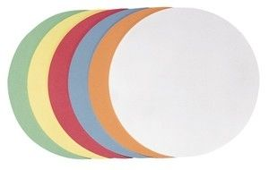 Franken selbstklebende Moderationskarte Kreis klein, 95 mm, sortiert, 300
