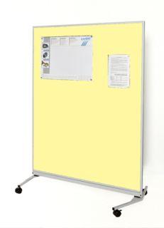 Mobile-Funktionswand, Textil beige, 1200 x 1625 x 670 mm (B x H x T)