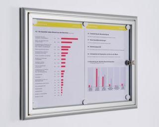 Softline Schaukasten BSK 1, für 1 Aushang im DIN A4 Format, für den Innenbereich