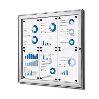 S - Schaukasten, für den Innen- und wettergeschützten Außenbereich, 6 x DIN A4