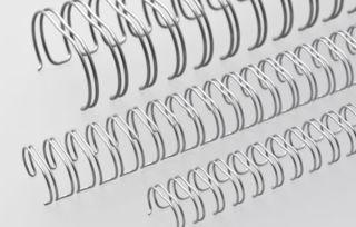 RENZ Draht-Bindeelemente, 2:1 Teilung, Ø 16,0 mm, 23 Schlaufen (=DIN A4), nc-silber (matt-silber), 50 Stück