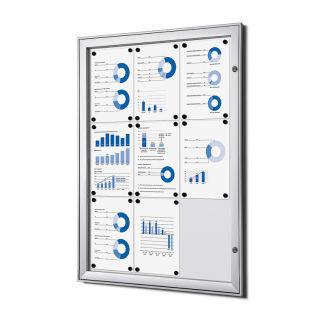 S - Schaukasten, für den Innen- und wettergeschützten Außenbereich, 9 x DIN A4