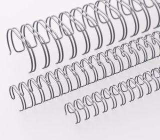 RENZ Draht-Bindeelemente, 2:1 Teilung, Ø 32,0 mm, 23 Schlaufen (=DIN A4), grau, 20 Stück