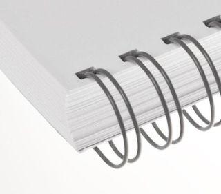 RENZ Draht-Bindeelemente, 3:1 Teilung, Ø 6,9 mm, 34 Schlaufen (=DIN A4), grau, 100 Stück