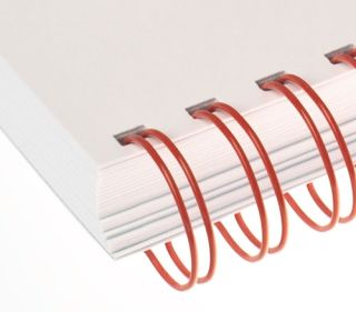 RENZ Draht-Bindeelemente, 3:1 Teilung, Ø 9,5 mm, 34 Schlaufen (=DIN A4), rot, 100 Stück