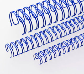 RENZ Draht-Bindeelemente, 3:1 Teilung, Ø 12,7 mm, 34 Schlaufen (=DIN A4), blau, 100 Stück