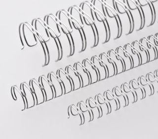 RENZ Draht-Bindeelemente, 3:1 Teilung, Ø 14,3 mm, 34 Schlaufen (=DIN A4), nc-silber (matt-silber), 50 Stück