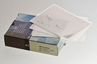 Renz Laminierfolie, DIN A7 (110 x 80 mm), 80 mic, 100 Stück