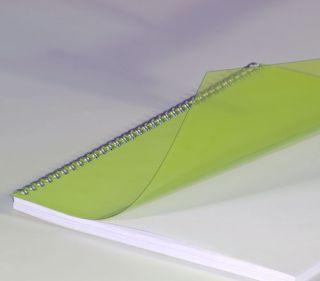 Deckblätter, DIN A4, transparent gelb 0,20 mm, VE mit 100 Stück