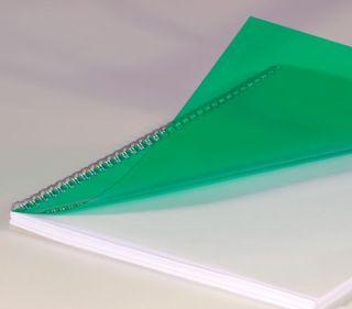 Deckblätter, DIN A4, transparent grün 0,20 mm, VE mit 100 Stück