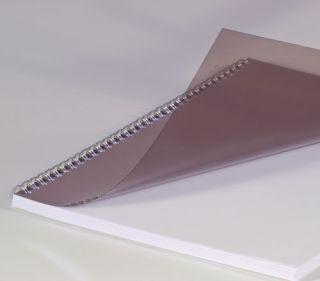 Deckblätter, DIN A4, transparent rauchfarben 0,20 mm, VE mit 100 Stück