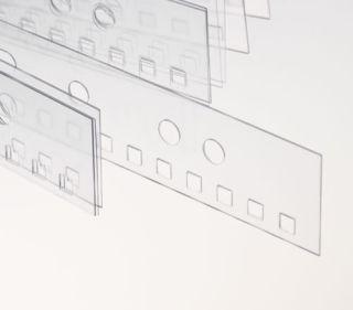 Abheftstreifen 3:1-Teilung (4 x 4 mm), für DIN A4