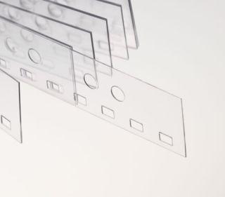Abheftstreifen 2:1-Teilung (3,5 x 5,5 mm), für DIN A4, für Drahtbinderücken