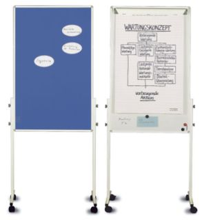 Magnetoplan Moderationswand UNIVERSAL filz blau/whiteboard Kombination