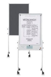 Magnetoplan Moderationswand UNIVERSAL filz grau/whiteboard Kombination
