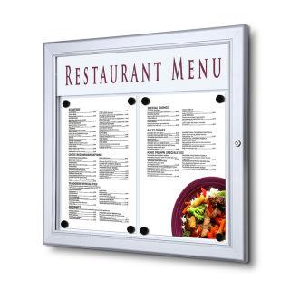 SCZ - Outdoor Menu Case 2 x A4 Speiseschaukasten Querformat, Schaukasten für Speisekarten