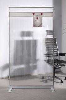 Magnetoplan Raumteiler Acryl, mit magnethaftender Leiste 180 x 100 x 50 cm (H x B x T)
