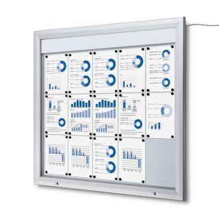 T Schaukasten mit LED-Beleuchtung, 15 x A4, für den Außenbereich