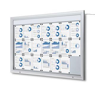 T Schaukasten mit LED-Beleuchtung, 21x A4, für den Außenbereich