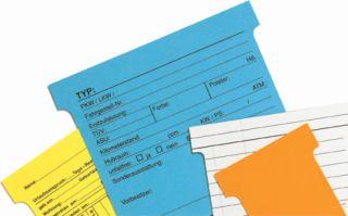 T-Karten Kennzahl 1, Kartenträgermodule, 27 mm, hellblau, Schachtel mit 100 Stück