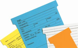 T-Karten Kennzahl 1, Hellgrün, Schachtel mit 100 Stück