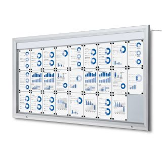 T Schaukasten mit LED-Beleuchtung, 27x A4, für den Außenbereich