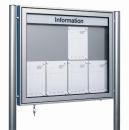 Top-Schaukasten TN 11 für 21 x DIN A4, Alu-Silber,...