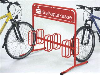 Werbe-Fahrradständer DW 3006, pulverbeschichtet nach RAL