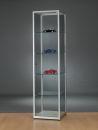 Standvitrine WMS H600-Tech, silber