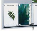 Schiebetür-Schaukasten FN 2, extra flach, für 4 x DIN A4, für den Innenbereich, Baustoffklasse B1