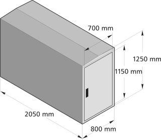Modell BikeBox One Anbausatz ohne Seitenwand