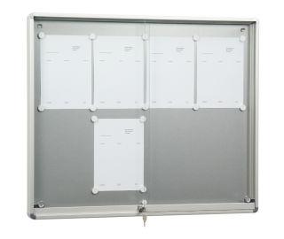 Schiebetür-Schaukasten SR 9, Baustoffklasse B1, 18 x DIN A4, für den Innenbereich,