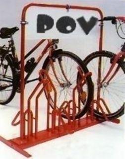 Fahrrad-Parker Modell: P 591-B mit Werbefläche für 4 Fahrräder beschichtet