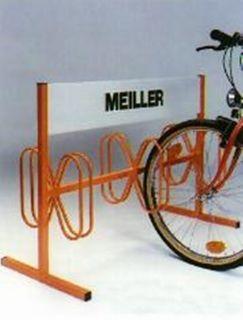 Fahrrad-Parker Modell: P 582-B mit Werbefläche für 6 Fahrräder beschichtet