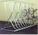 Fahrrad-Kufenparker Modell: P 54-M12 mit 12 Einstellplätze doppelseitig, freistehend, ohne Dach