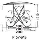 Kufenparker, Modell P 57-MB18 mit 18 Einstellplätzen